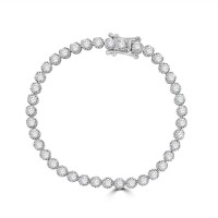 18ct White Gold 4.00ct Diamond Tennis Bracelet