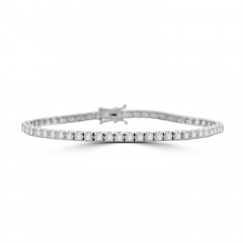 18ct White Gold 2.00ct Diamond Tennis Bracelet