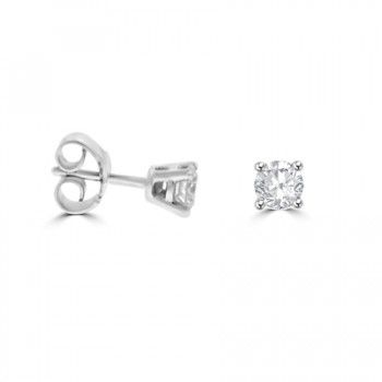 9ct White Gold .50ct Diamond Stud Earrings