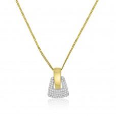 9ct Gold Diamond Buckle Pendant