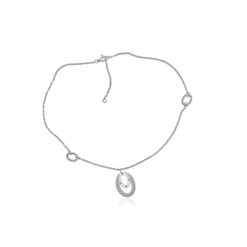 Sterling silver & Diamond Gemoro Pendant Chain