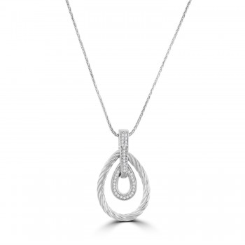 Sterling silver Cubic Zirconia Pendant Chain
