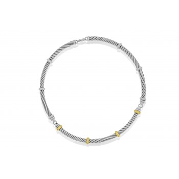 Sterling Silver & 18ct Gold Gemoro Collar
