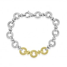 Sterling Silver & 9ct Gold 7.5