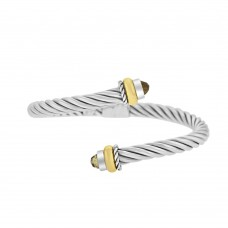Sterling silver & 18ct Yellow Gold Gemoro Overlap Bangle