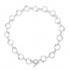 Sterling silver Orbit T-Bar Chain