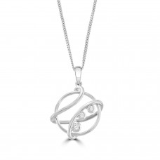 Sterling Silver Eclipse Pendant Chain