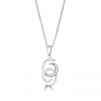 Sterling Silver Intwined Pendant Chain
