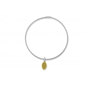 Sterling Silver & 18ct Gold Gemoro Pendant
