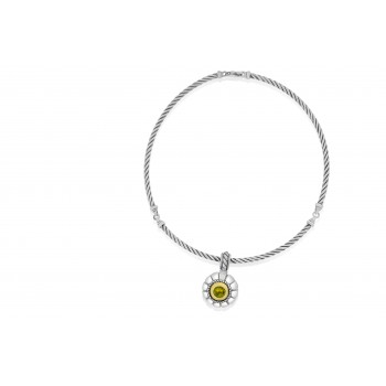 Sterling Silver & 18ct Gold Citrine Pendant