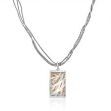 Sterling silver & Rose Filigree Pendant