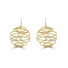 Sterling silver & Gold Interlinked Oval Earring Drops