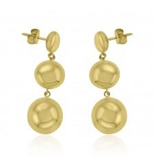 9ct Rose Gold 3-Tier Bead Drop Earrings