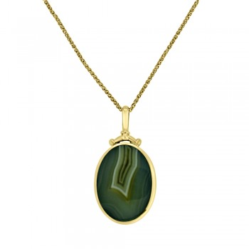 9ct Gold Double-sided Fob Pendant