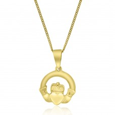 9ct Gold Claddagh Pendant