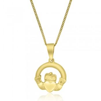 9ct Gold Claddagh Pendant