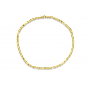 18ct Gold Fetter Cuboid Chain