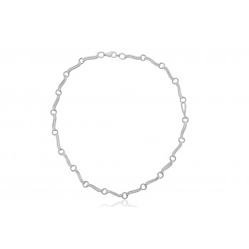 9ct White Gold Handmade Wave Chain