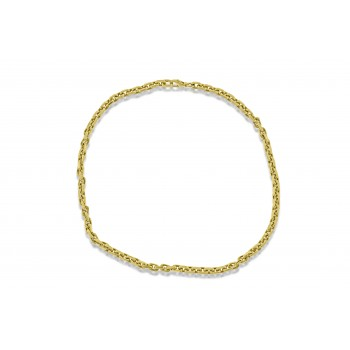 9ct Gold Filed Square Belcher Chain