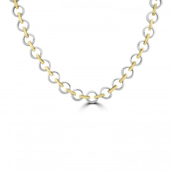 9ct Yellow & White Gold Collar