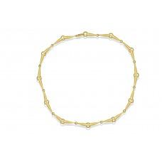 9ct Gold Handmade Tear Drop Linked Chain