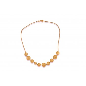 9ct Rose Gold Beaded Necklet Chain