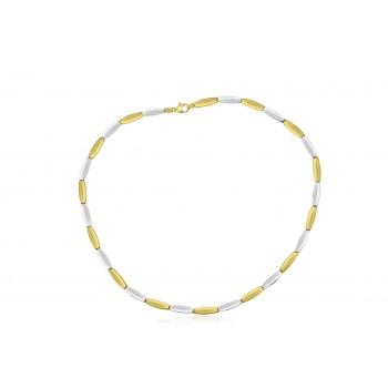 9ct Yellow & White Gold Lozenge Collar
