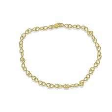9ct Gold Handmade Infinity Chain