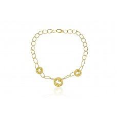 9ct Gold Twist Coil Pendant Chain