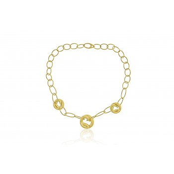 9ct Gold Twist Coil Pendant Chain