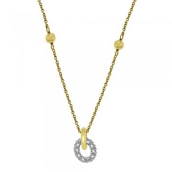9ct Gold Cubic Zirconia Ring Pendant Chain