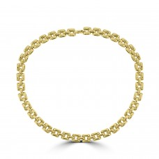 9ct Gold Panther Necklet Chain