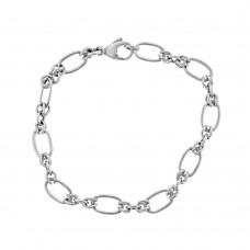 9ct White Gold Handmade Bracelet
