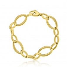 9ct Yellow Gold Oval Fetter Bracelet