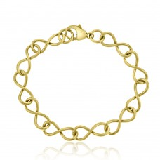 9ct Gold  Handmade Infinity Bracelet