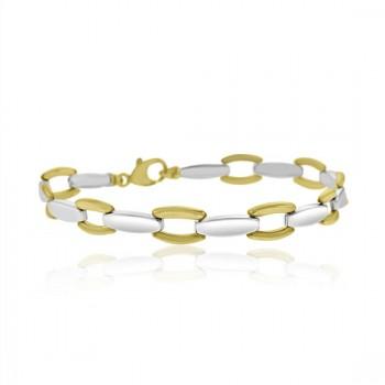9ct Yellow & White Gold 7.5
