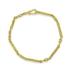 9ct Gold Handmade Trombone Twist 7.5
