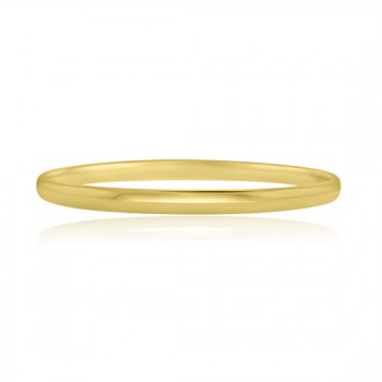 9ct Gold 5mm Court Slave Bangle