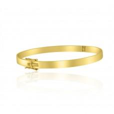 9ct Yellow Gold Hinged Flat 5mm Bangle