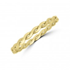 9ct Gold Twist Slave Bangle