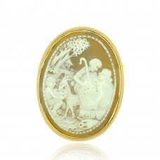 9ct Gold Cameo Brooch / Pendant