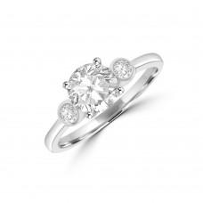 9ct White Gold Three-stone Dress Ring