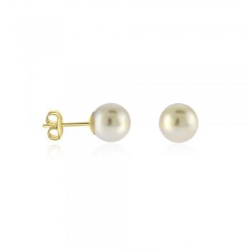 9ct Gold Freshwater Pearl Stud Earrings